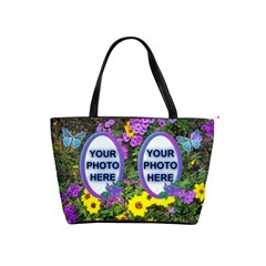 Wildflower Shoulder Bag By Joy Johns   Classic Shoulder Handbag   Xkuvocy9h1h8   Www Artscow Com Front