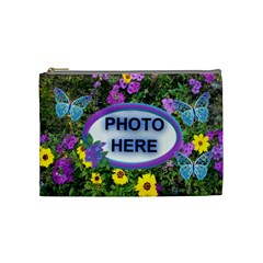 Wild Flower Medium Cosmetic Bag By Joy Johns   Cosmetic Bag (medium)   Dd3439uhkxby   Www Artscow Com Front