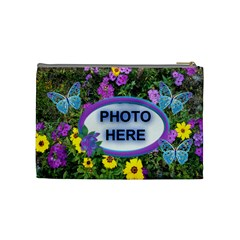 Wild Flower Medium Cosmetic Bag By Joy Johns   Cosmetic Bag (medium)   Dd3439uhkxby   Www Artscow Com Back