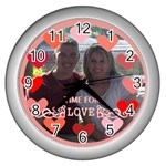 circle of love clock in silver - Wall Clock (Silver)