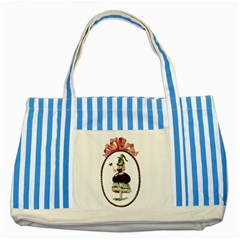Female Eye Blue Striped Tote Bag by EndlessVintage