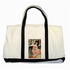 Job Advertisement By Alfons Mucha 1898  Two Toned Tote Bag by EndlessVintage