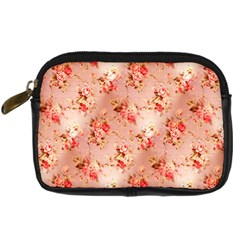 Vintage Flowers Digital Camera Leather Case by EndlessVintage