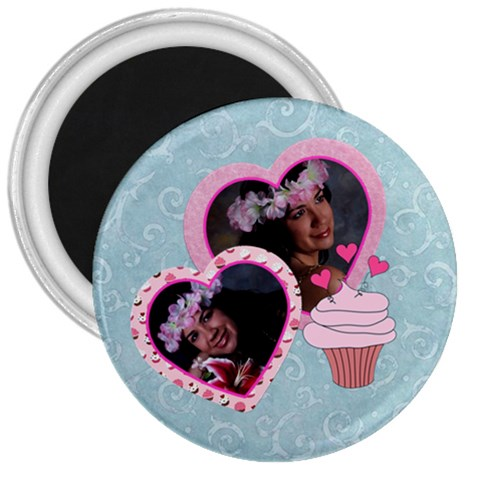 Cupcake Love 3  Magnet By Ivelyn   3  Magnet   Onp452392e96   Www Artscow Com Front