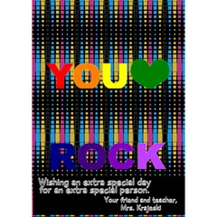 You Rock Card 2013 By Georgina Krajeski   You Rock 3d Greeting Card (7x5)   Xpoi42rs5jmo   Www Artscow Com Inside