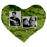Camouflage-Camo-Military-Hunting- heart cushion - 19  Premium Heart Shape Cushion