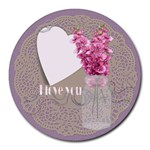 I love you mousepad - Collage Round Mousepad