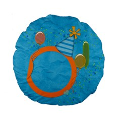 Boy`s Party 15  Cushion By Zornitza   Standard 15  Premium Round Cushion    Gzco7rc0j3v7   Www Artscow Com Front