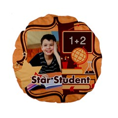 Back To School By School   Standard 15  Premium Round Cushion    Yvrrcp3ufhs7   Www Artscow Com Back