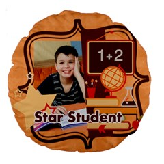 Back To School By School   Large 18  Premium Round Cushion    Qdu8sua8okvz   Www Artscow Com Front