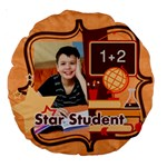 back to school - Large 18  Premium Round Cushion