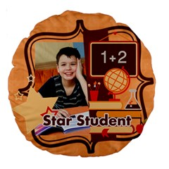 Back To School By School   Large 18  Premium Round Cushion    Qdu8sua8okvz   Www Artscow Com Back