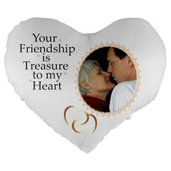 Friendship 19  Heart Shape Cushion By Deborah   Large 19  Premium Heart Shape Cushion   Heq1b96qjq5d   Www Artscow Com Front