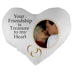 Friendship 19  Heart Shape Cushion By Deborah   Large 19  Premium Heart Shape Cushion   Heq1b96qjq5d   Www Artscow Com Back