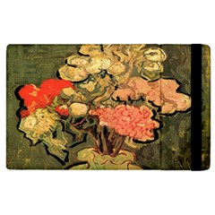 Still Life Vase With Rose Mallows By Vincent Van Gogh 1890  Apple iPad 3/4 Flip Case by EndlessVintage