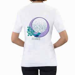 Peacock Women T Shirt By Zornitza   Women s T Shirt (white) (two Sided)   Gt63tzmo5tkg   Www Artscow Com Back