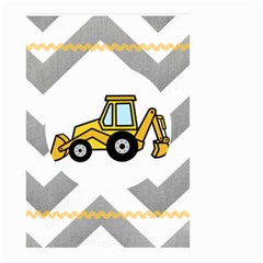 Backhoe Flag By Lindsey   Small Garden Flag (two Sides)   V7vi9mbqjjr4   Www Artscow Com Back
