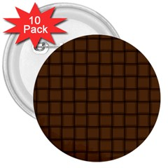 Brown Nose Weave 3  Button (10 Pack) by BestCustomGiftsForYou