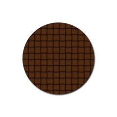 Brown Nose Weave Drink Coaster (round) by BestCustomGiftsForYou
