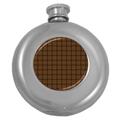 Brown Nose Weave Hip Flask (round) by BestCustomGiftsForYou
