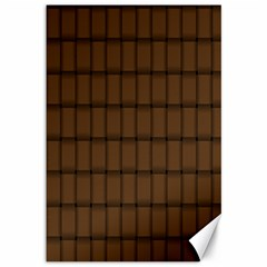 Brown Nose Weave Canvas 12  X 18  (unframed) by BestCustomGiftsForYou