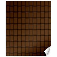 Brown Nose Weave Canvas 16  X 20  (unframed)