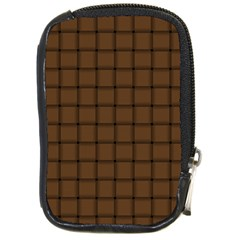 Brown Nose Weave Compact Camera Leather Case by BestCustomGiftsForYou