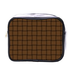 Brown Nose Weave Mini Travel Toiletry Bag (one Side) by BestCustomGiftsForYou