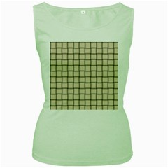 Champagne Weave Womens  Tank Top (green) by BestCustomGiftsForYou