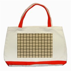 Champagne Weave Classic Tote Bag (red) by BestCustomGiftsForYou