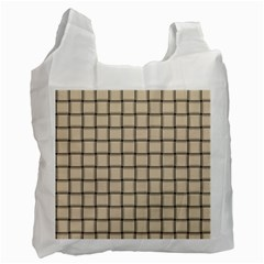 Champagne Weave Recycle Bag (two Sides) by BestCustomGiftsForYou
