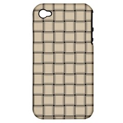 Champagne Weave Apple Iphone 4/4s Hardshell Case (pc+silicone) by BestCustomGiftsForYou