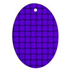 Violet Weave Oval Ornament by BestCustomGiftsForYou