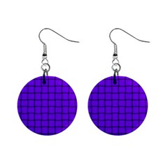 Violet Weave Mini Button Earrings