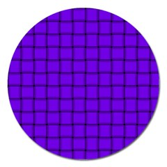 Violet Weave Magnet 5  (round) by BestCustomGiftsForYou