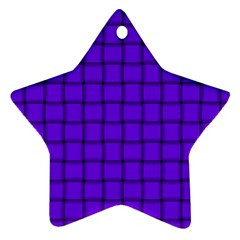 Violet Weave Star Ornament (two Sides) by BestCustomGiftsForYou