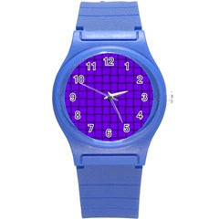 Violet Weave Plastic Sport Watch (small) by BestCustomGiftsForYou