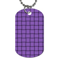 Amethyst Weave Dog Tag (two Sided)