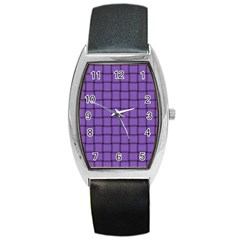Amethyst Weave Tonneau Leather Watch by BestCustomGiftsForYou