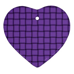 Amethyst Weave Heart Ornament (two Sides) by BestCustomGiftsForYou