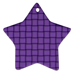 Amethyst Weave Star Ornament (two Sides) by BestCustomGiftsForYou