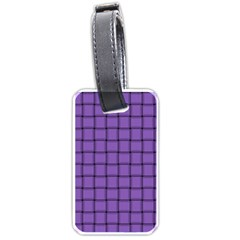Amethyst Weave Luggage Tag (two Sides) by BestCustomGiftsForYou