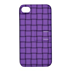 Amethyst Weave Apple Iphone 4/4s Hardshell Case With Stand by BestCustomGiftsForYou