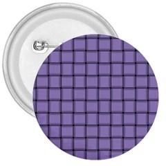 Light Pastel Purple Weave 3  Button by BestCustomGiftsForYou