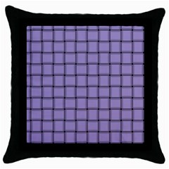 Light Pastel Purple Weave Black Throw Pillow Case by BestCustomGiftsForYou