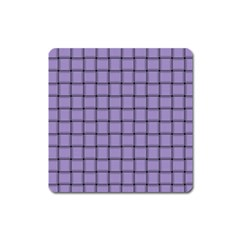 Light Pastel Purple Weave Magnet (square) by BestCustomGiftsForYou
