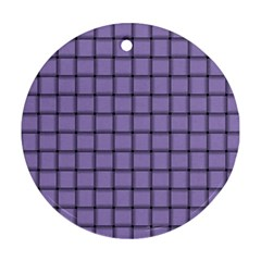 Light Pastel Purple Weave Round Ornament (two Sides) by BestCustomGiftsForYou