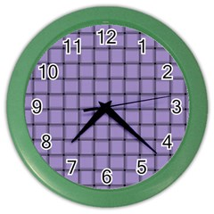 Light Pastel Purple Weave Wall Clock (color) by BestCustomGiftsForYou