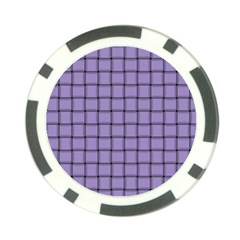 Light Pastel Purple Weave Poker Chip by BestCustomGiftsForYou
