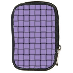 Light Pastel Purple Weave Compact Camera Leather Case by BestCustomGiftsForYou